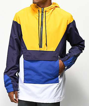 Ninth Hall Trudge Yellow, Blue & White Anorak Jacket