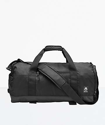 Nixon Pipes Black Duffle Bag