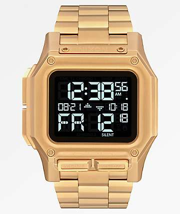 Nixon Regulus SS All Gold Digital Watch