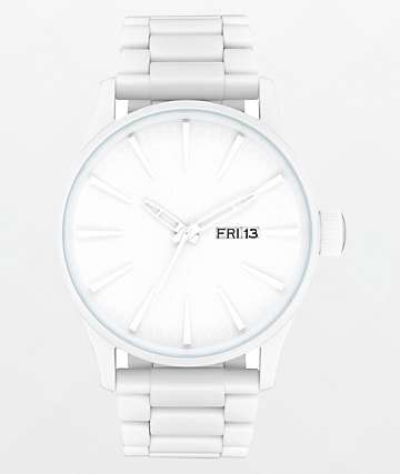 Nixon Sentry SS All White Analog Watch