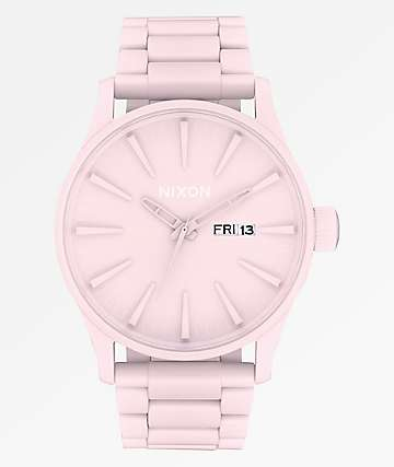 Nixon Sentry SS Matte Petal Pink Analog Watch