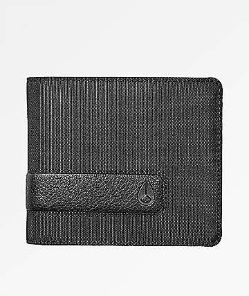 Nixon Showoff Black Nylon Bifold Wallet