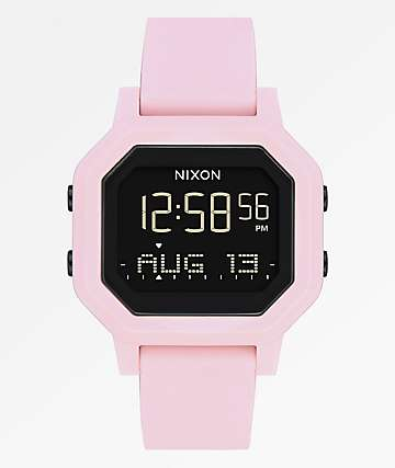 Nixon Siren Pale Pink Digital Watch