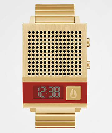 Nixon The Dork Too Gold Digital Watch