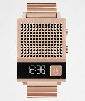 Nixon The Dork Too Rose Gold Digital Watch