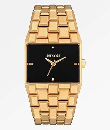Nixon The Ticket Gold & Black Analog Watch
