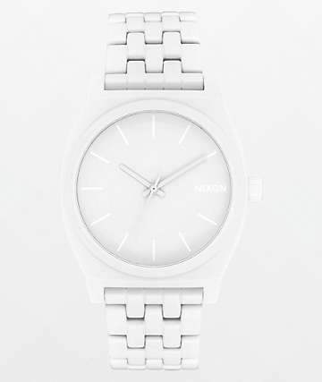 Nixon Time Teller All White Analog Watch