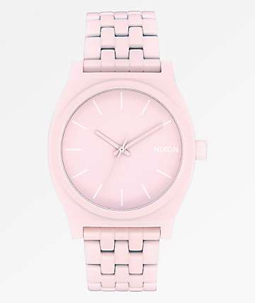 Nixon Time Teller Matte Petal Pink Analog Watch