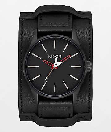 Nixon x Metallica Sentry Leather Seek & Destroy Black Watch