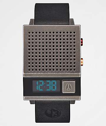 Nixon x Star Wars Dork Too Black & Silver Digital Watch