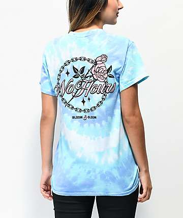 NoHours Bloom Blue Tie Dye T-Shirt