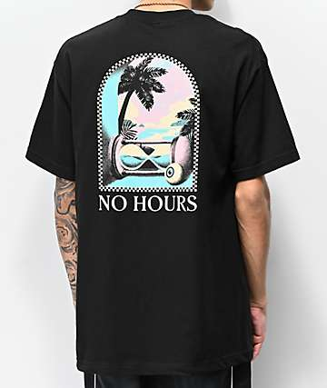 NoHours Hourglass Black T-Shirt
