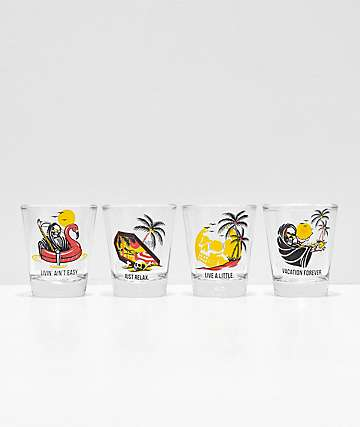 NoHours Paradise Shot Glass Set