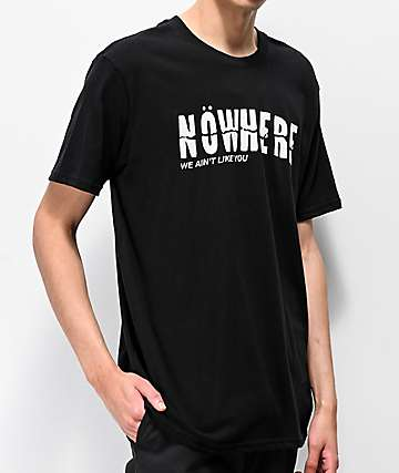Nowhere Logo Black T-Shirt