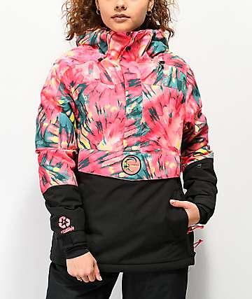 O'Neill PW Frozen Wave Tie Dye Anorak Snowboard Jacket