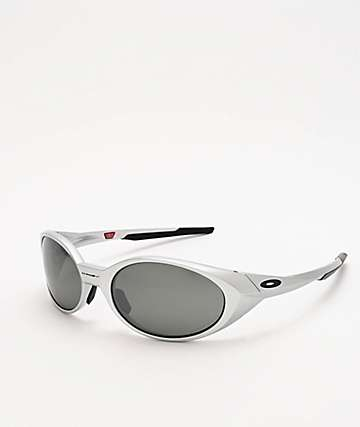 Oakley Eye Jacket Silver & Grey Prizm Polarized Sunglasses