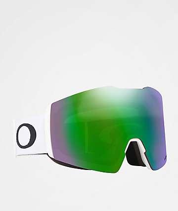 Oakley Fall Line PRIZM White & Jade Iridium Snowboard Goggles