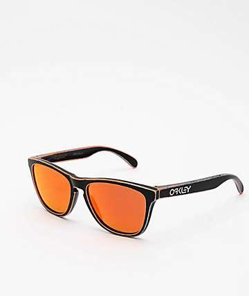 Oakley Frogskins Raceworn Orange & Black Prizm Sunglasses