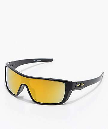 Oakley Straightback Black 24k Iridium Sunglasses