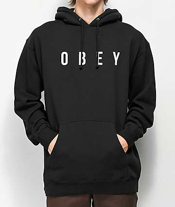 Obey Anyway Black Hoodie