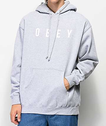 Obey Anyway Grey Hoodie