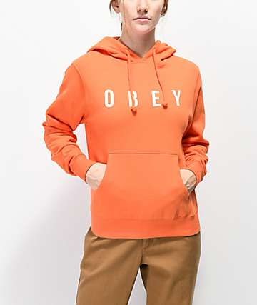 Obey Anyway Orange Hoodie