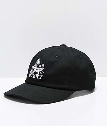 Obey Borrego Black Snapback Hat