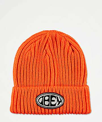Obey Bumper Flame Orange Beanie