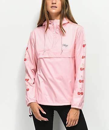 Obey Cherries Pink Anorak Jacket