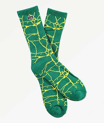Obey Concrete Green Crew Socks