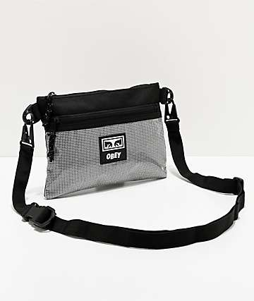 Obey Conditions Black Shoulder Bag