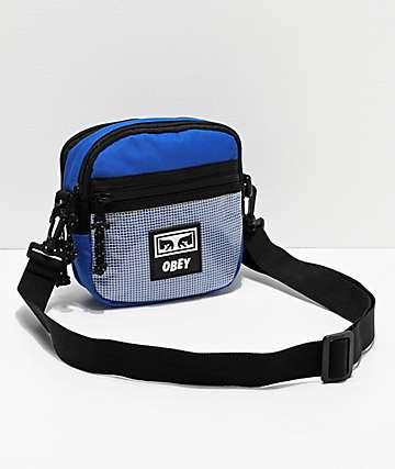Obey Conditions bolso de hombro azul