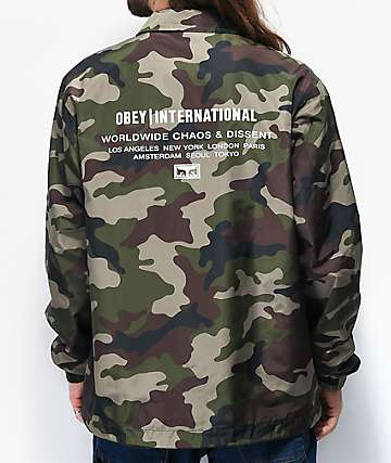 Obey Core Camo Coaches Jacket