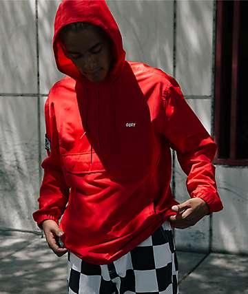 Obey Crosstown II Red Anorak Jacket