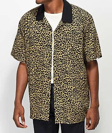 Obey Dirty Leo camisa tejida de leopardo