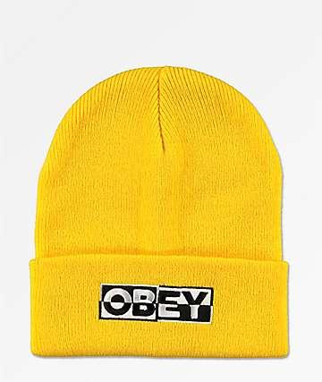 Obey Downbeat Yellow Beanie