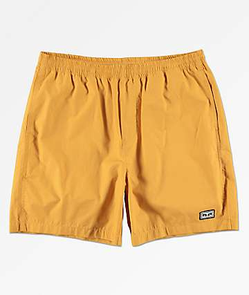 Obey Easy Yellow Shorts