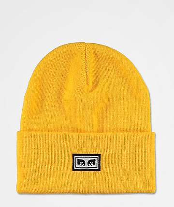 Obey Icon Eyes Energy Yellow Beanie