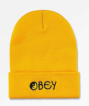 Obey Imbalance Yellow Beanie