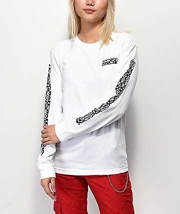 Obey Inside Out 3 Salvage White Long Sleeve T-Shirt