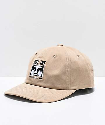 Obey International Khaki Snapback Hat