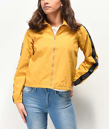 Obey Jax Logo Tape Mustard Zip Jacket
