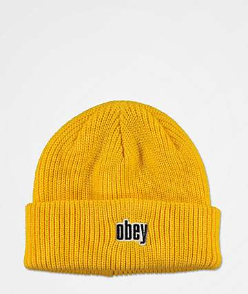Obey Jungle Shadow Sulphur Beanie