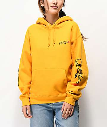 Obey Le Obey Rose sudadera con capucha dorada