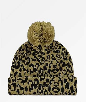 Obey Lyndale Leopard Beanie