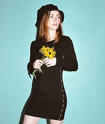 Obey Lynx Bodycon vestido negro