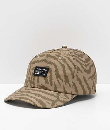 Obey Mad River Olive Green Strapback Hat