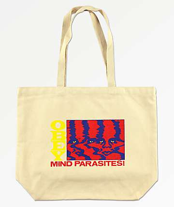 Obey Mind Parasites White Tote Bag