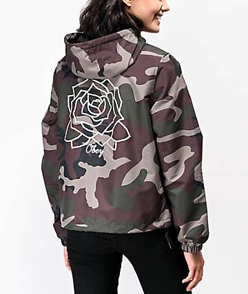 Obey Mira Rosa Camo Windbreaker Jacket