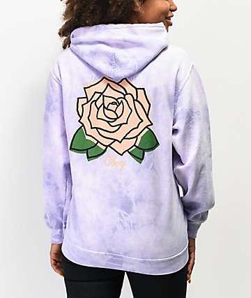 Obey Mira Rosa sudadera con capucha tie dye lavanda